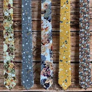 ⚜️HP⚜️ Men's Autumn Mix Floral Necktie Gift Set